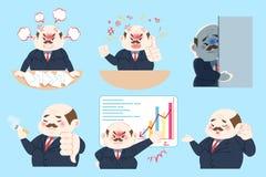 Cute cartoon boss Stock Photography