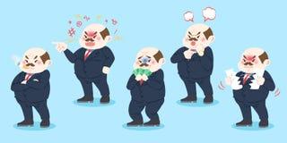 Cute cartoon boss Stock Images