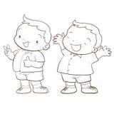 Cute cartoon boy character Stock Photo