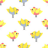 Cute cartoon boys and girls birds vector illustration. Stock Photography