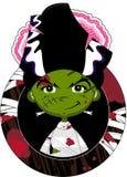 Cute Cartoon Bride of Frankenstein Royalty Free Stock Photos