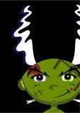 Cute Cartoon Bride of Frankenstein Stock Images