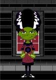 Cute Cartoon Bride of Frankenstein Stock Photography