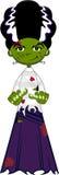 Cute Cartoon Bride of Frankenstein Royalty Free Stock Image