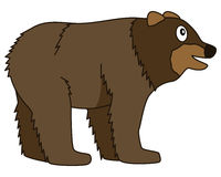 Cute Cartoon Brown Bear Forest Animal vector illustration
