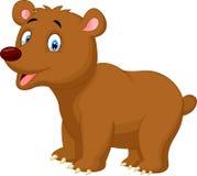 Cute cartoon brown bear Stock Photos