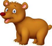 Cute cartoon brown bear Royalty Free Stock Image