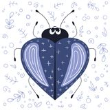 Cute cartoon bug stock illustration