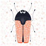 Cute cartoon bug vector illustration