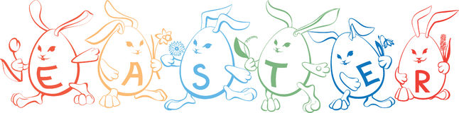 Cute_cartoon_bunnies Stock Photos