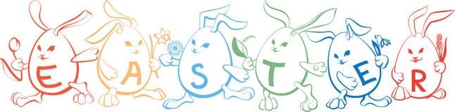 Cute_cartoon_bunnies Fotos de archivo