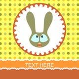 Cute cartoon bunny card Royalty Free Stock Photos