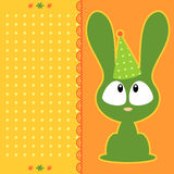 Cute cartoon bunny card Royalty Free Stock Photography