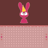 Cute cartoon bunny card Stock Photos