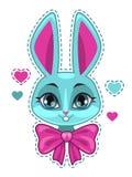 Cute cartoon bunny girl face Royalty Free Stock Photo