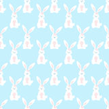 Cute cartoon bunny seamless geometric pattern. royalty free stock photo