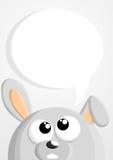 Cute cartoon bunny with speech bubble Stock Photo