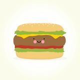 Cute cartoon burger Stock Image