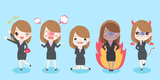 Cute cartoon business woman Stock Photography