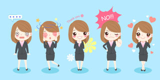 Cute cartoon business woman royalty free stock image