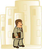 Cute cartoon businessman Stock Image