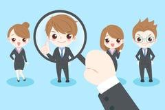 Cute cartoon businesspeople Stock Image