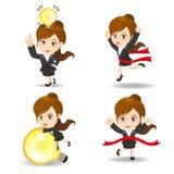 Cute cartoon businesswoman Royalty Free Stock Photo