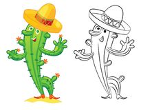 Cute cartoon cactus Royalty Free Stock Photos