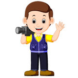 Cute cartoon a cameraman Stock Photo