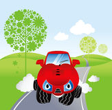 Cute cartoon car Stock Images