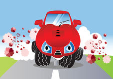 Cute cartoon car Stock Photography