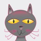 Cute cartoon cat Stock Images
