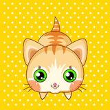 Cute cartoon cat Royalty Free Stock Photography