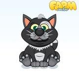 Cute Cartoon Cat Royalty Free Stock Photography