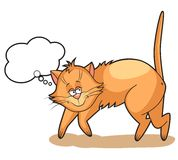 Cute cartoon Cat dreams Royalty Free Stock Photo