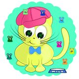 Cute cartoon cat and mice. vector illustration. Cute cartoon cat and mice.  sweet vector illustration royalty free illustration