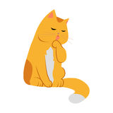 Cute Cartoon Cat stock illustration