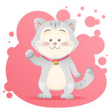 Cute cartoon cat toy  Stock Photography
