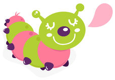 Cute cartoon caterpillar Royalty Free Stock Photos