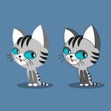 Cute cartoon cats. Royalty Free Stock Photos