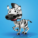 Cute cartoon character baby-zebra Royalty Free Stock Photos