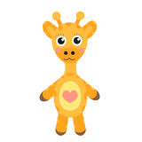 Cute cartoon character giraffe. Baby toy giraffe on a white background, . Vector illustration. Royalty Free Stock Photography