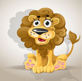 Cute cartoon character lion Royalty Free Stock Images