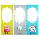 Cute cartoon characters. Back to school background Royalty Free Stock Photo