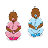 Cute cartoon characters of newborn babies. For your decoration Stock Photo