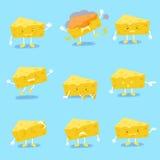 Cute cartoon cheese royalty free illustration