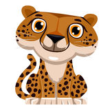 Cute cartoon Cheetah Stock Image