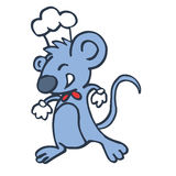 Cute cartoon chef mouse vector Royalty Free Stock Images