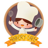 Cute cartoon chef Stock Images
