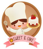 Cute cartoon chef Royalty Free Stock Photo